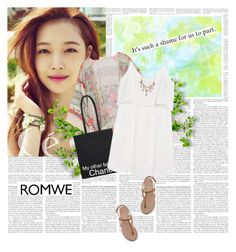 """""""No 141:ROMWE KIMONO"""" by lovepastel ❤ liked on Polyvore featuring Chanel, MANGO and Sole Society"""