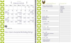 Printable Meal Planner : Cooking at home is key to a healthy diet. If you have a friend who likes to keep everything in check, then help her make meal planning easy with this cute Printable Owl-Themed Meal Planner ($4) from Etsy.