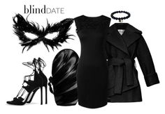 """""""Masked Date"""" by kashmier ❤ liked on Polyvore featuring Carven, Stuart Weitzman, Sydney Evan, women's clothing, women, female, woman, misses, juniors and blinddate"""