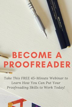 Think you have what it takes to work from home as a proofreader? Learn all about this in-demand work from home career and how you can get started by taking free webinar. Legit Work From Home, Legitimate Work From Home, Work From Home Moms, Book Writing Tips, Editing Writing, Writing Jobs, Ways To Earn Money, Earn Money From Home, Way To Make Money