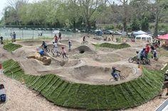 People for Bikes Philadelphia Pumptrack opening. Jump Park, Skate Park, Mountain Bike Shoes, Mountain Bike Trails, Velo Biking, Dirt Bike Track, Monster Energy Supercross, Mtb Trails, Sport Park