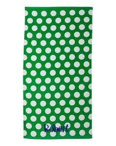 Polka Dot Beach Towel | | FREE Monogram | The Preppy Pair