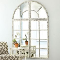Grand Chateau Window Mirror