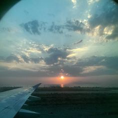 Good morning Santorini! #Santorini #airport #plane #leavingonajetplane #Greece #greekislands #imingreece #travelgram #travel #aegeanairlines #goodmorning #instasunrise #sunrise #headinghome #cloudporn #clouds by veronica_lindhurst
