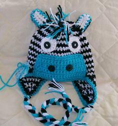 Little Zebra Hat SOO CUTE- Customized Boys   -Preemie-4T/cbbcreations