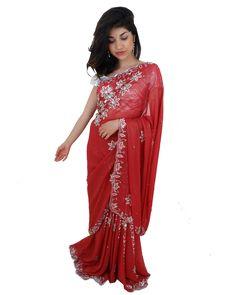 En Stock! Sari Bollywood Prune et Rose Tenue de Mariage Indienne Glam brillante  #NarkisFashion #SariMariage  Tenue#evenement