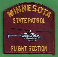 Minnesota State Patrol Helicopter Unit Police Patch Nebraska, Oklahoma, Wisconsin, Michigan, Military Police, State Police, Flight Paramedic, Silver Bay, Honor Guard