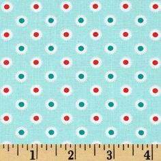 Designed by Allison Harris for Windham Fabrics, this cotton print fabric is perfect for quilting, apparel and home decor accents. Colors include shades of mint green, white, red and teal.