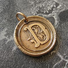 Initial D  modern wax seal letter charm in bronze  by RQPStudio, $33.00