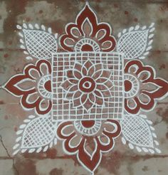 Simple Rangoli Designs Images, Rangoli Designs Latest, Rangoli Designs Flower, Rangoli Border Designs, Small Rangoli Design, Rangoli Designs Diwali, Rangoli Designs With Dots, Kolam Rangoli, Flower Rangoli