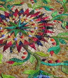 closeup, Exuberance by Marilyn Badger.  Best of show:  2014 Pacific International Quilt Festival.  Photo by Quilt Inspiration
