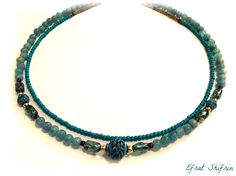 Aquamarine Necklace Turquoise Aquamarine necklace Historical Jewelry Aquamarine Historical necklace Gold Ancient Greek Jewelry Efrat Shifrin