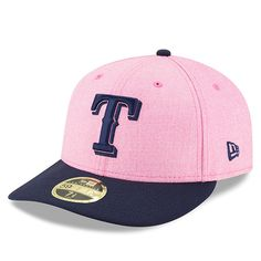 3c0683d6955 Texas Rangers New Era 2018 Mother s Day On-Field Low Profile 59FIFTY Fitted  Hat – Pink Navy