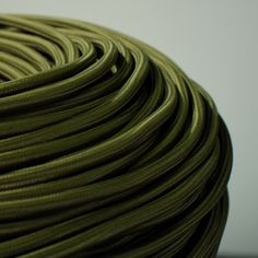 CABLE TEXTILE VERT OLIVE