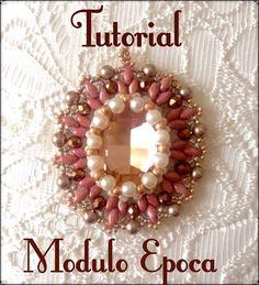 "TUTORIAL "" EPOCA""  INCASTONATURA OVALE 18 X 25  BEADED EARRING VERY EASY"