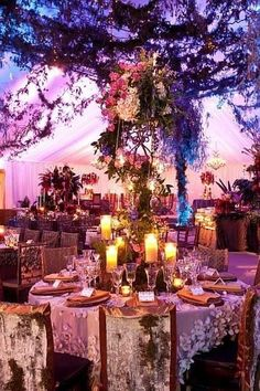 enchanted garden wedding  this is kind of what i was envisioning when you were explaining what kind of theme you wanted. this might be a little much but a good design concept to go off of! -courtney
