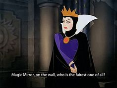 16 Disney Characters Who Really Need To See A Psychiatrist The Queen from Snow White: Narcissist This lady is a textbook narcissist: she's vain, selfish, and has an inflated sense of self-importance. Someone needs to teach this lady how to age gracefully. Disney Villains, Disney Pixar, Walt Disney, Disney Characters, Fictional Characters, Disney Love, Disney Magic, Evil Queens, Maleficent
