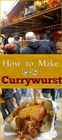 Oktoberfest has more than beer and brats! Here's how to make currywurst!   Fit Bottomed Eats