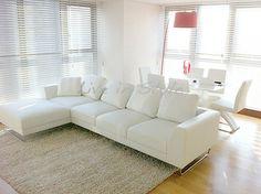 Max 2917 - L-Shape White Leather Sofa