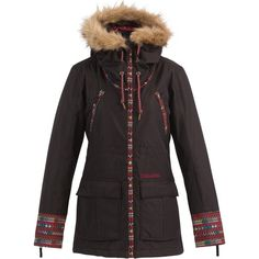 cb373990eed1 Billabong Womens Mya Jacket ( 265) ❤ liked on Polyvore featuring black
