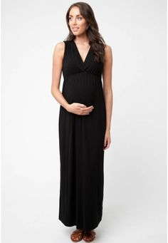 300939b3e73 Ripe Maternity Womens Maternity Virtue Maxi Dress Black XSmall   To view  further for this item