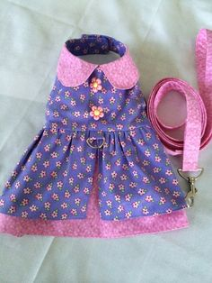 Catherine's creation made from Sofi & Friends Pattern 1726 Lily Mae Dog Dress