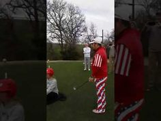 Michael Furrh hits the World's Most Dangerous tee shot off of Dallas Cowboy Cheerleaders head - Tee One Up Golf Shoot Off, Golf Drivers, Baby Drawing, Play Golf, Golf Ball, How To Raise Money, Dallas Cowboys, Little Babies, Cheerleading