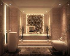 indirekte beleuchtung decke dunkeles interior wandgestaltung marokko licht