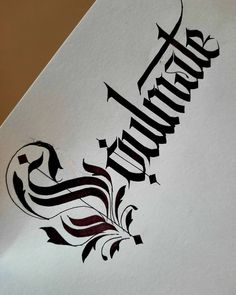 Calligraphy Quotes, Calligraphy Letters, Caligraphy, Beautiful Calligraphy, Beautiful Fonts, Gothic Lettering, Hand Lettering, Tattoo Lettering Styles, Black Letter