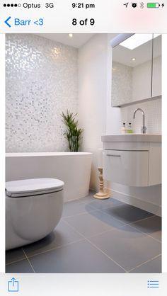 Silver bright bathroom