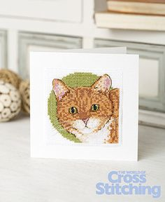 Pet of the Month - cross stitch pattern. Here's the latest in our special reader request series to nominate your Pet of the Month... this curious kitty is simple to stitch. Find this cat chart in the latest issue of The World of Cross Stitching magazine, issue 231