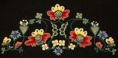 Traditional Norwegian bunad embroidery