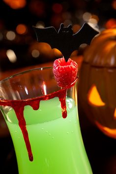 Pumpkin Smoothie Drink- serve in pumpkin    ½ cup canned pumpkin  ¾ cup milk or vanilla yogurt  ¼ tsp. cinnamon  ⅛ tsp. nutmeg  2 tsp. brown sugar  4 ice cubes  Combine all ingredients in a blender and blend until smooth. This Halloween drink recipe is very rich and is a perfect dessert drink.