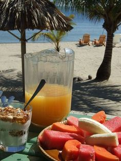 Enjoy the luxuries of life when you get a chance... Breakfast on the beach...bliss