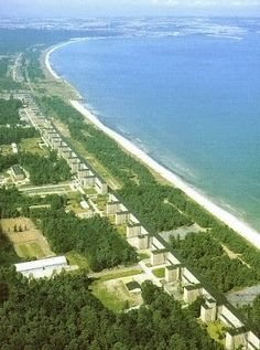 PRORA on the island of Rügen, Germany is a colossal Nazi-planned holiday resort complex.Even though it is ugly and a bit terrifying it belongs among my fascinating travel experiences.  It was built from 1936 to 1939. The complex is almost 4.5 kilometers long.