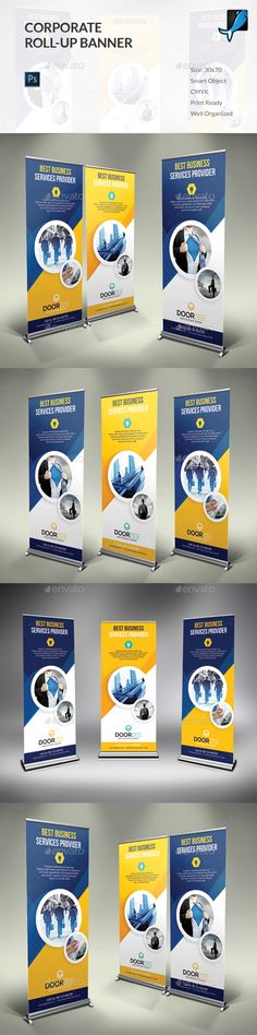 Corporate Rollup Banner Template PSD #design Download: http://graphicriver.net/item/corporate-rollup-banner/14009224?ref=ksioks