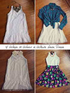 How to wear a white summer lace dress. Make this dress yourself! Free sewing pattern at: http://www.sewinlove.com.au/2013/08/15/free-pattern-ruffle-lace-dress-%E3%83%AF%E3%83%B3%E3%83%94%E3%83%BC%E3%82%B9%E4%BD%9C%E3%82%8A%E6%96%B9/
