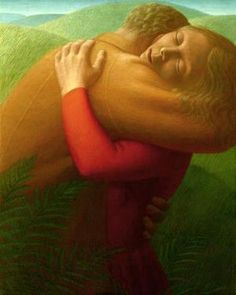 """Art and quotation by George Tooker: """"Painting is an attempt to come to terms with life. There are as many solutions as there are human beings."""""""