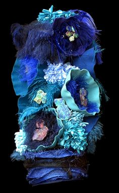 Deep Blue Sea Hat by Anne Maree Willett