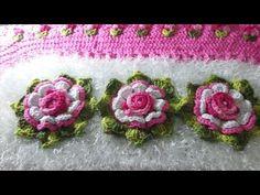 VIDEO AULA: BOTOES DE ROSA EMBUTIDOS NO TAPETE( tulipas) pelo pap da amiga ALEXANDA FERREIRA - YouTube Crochet Home Decor, Crochet Art, Crochet Doilies, Crochet Borders, Crochet Flower Patterns, Crochet Flowers, Crochet Hammock, Tissue Paper Flowers, Crochet Videos