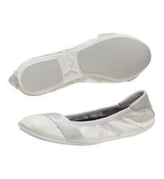 my new white leather ballet shoes by rudolf dassler (puma) are so comfortable!  pretty much obsessed.