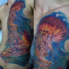 100 Jellyfish Tattoo Designs For Men - Free-Swimming Marine Ideas