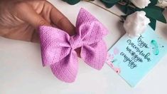 Fabric Hair Bows, Diy Hair Bows, Diy Bow, Diy Ribbon, Ribbon Bows, Fabric Flowers, Felt Bow Tutorial, Flower Tutorial, Felt Bows