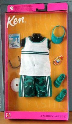 Barbie Ken Fashion Avenue 1999 Men Clothing Beach Swim Trunks Sunglass in Pack | eBay