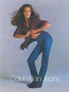 Brooke Shields by Richard Avedon for Calvin Klein jeans, Brooke Shields, Richard Avedon, Vintage Jeans, Vintage Outfits, 80s Fashion, Denim Fashion, Vintage Fashion, Fashion Outfits, Fashion History