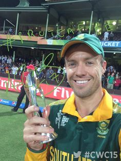 AB De Villiers and his is of course the Player of the Match! The Best of so far? Test Cricket, Cricket Sport, Ab De Villiers Ipl, Ab De Villiers Photo, Sports Celebrities, Cricket World Cup, Power To The People, Virat Kohli, God Of War