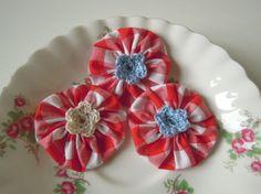 Fabric Flower Embellishments by Rachel Whitworth