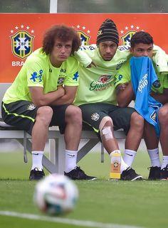 David luiz, Neymar e Thiago Silva