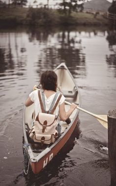 a canoe ride by your self is an adventure with...