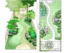 English Garden Design, Back Garden Design, Garden Design Plans, Patio Design, Backyard Plan, Backyard Landscaping, Backyard Bbq, Landscaping Design, Backyard Ideas